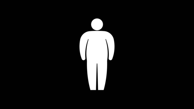 vídeos de stock e filmes b-roll de body figure size icon. stick figures..animation with optional luma matte. alpha luma matte included. 4k video - texto datilografado