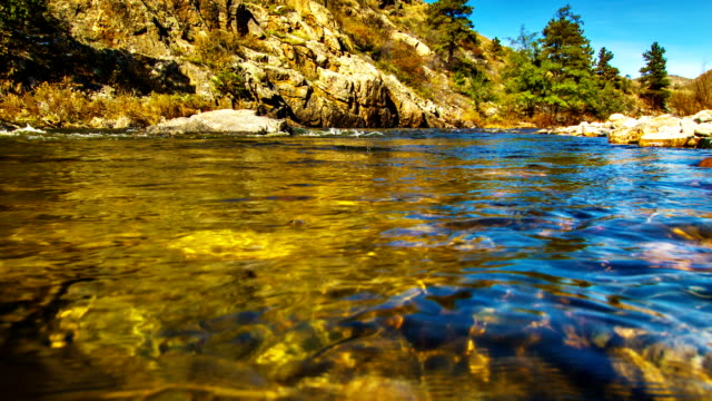 body of mountain river water - lakes stock videos and b-roll footage