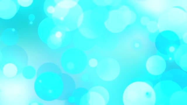 blanc bleu de turquoise cercles bokeh - Vidéo