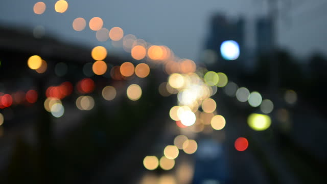 Bokeh city background video
