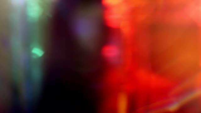 Bokeh color lights motion background video