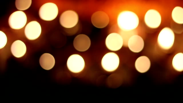 bokeh creating by oil lamp in festival video