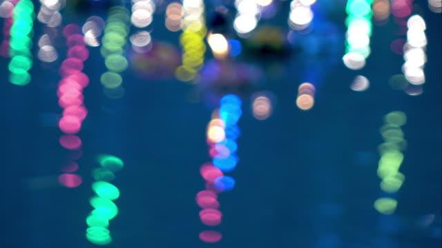 Bokeh light background in loy krathong festival video