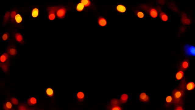 bokeh light frame multicolored black background video