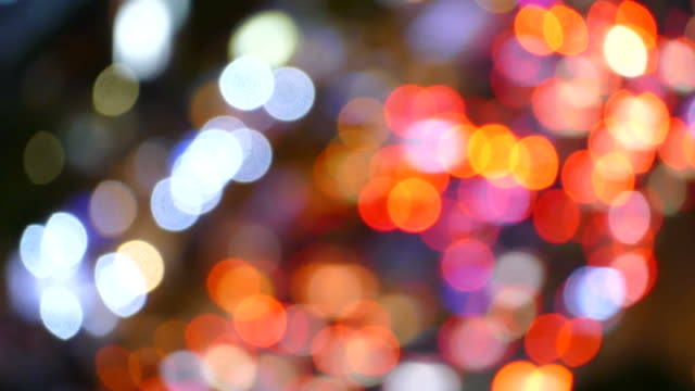 bokeh lights background. video