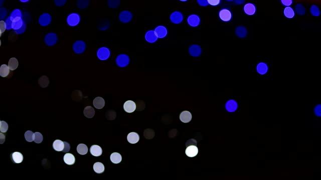 Bokeh luzes piscando cintilante - vídeo