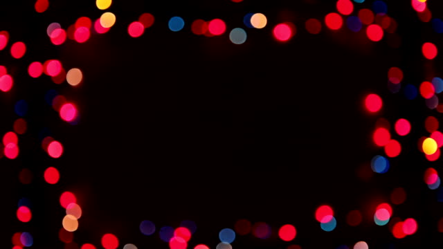 Bokeh lights frame video