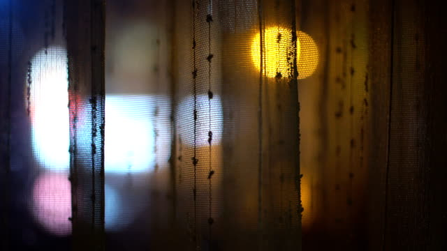 Bokeh Lights through Curtain video