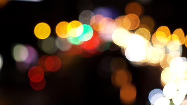 Bokeh of traffic light video