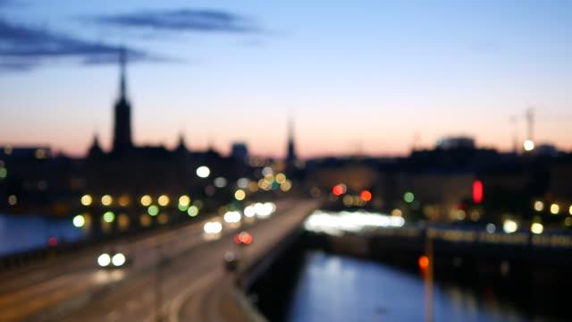 bokeh stockholm city - stockholm bildbanksvideor och videomaterial från bakom kulisserna