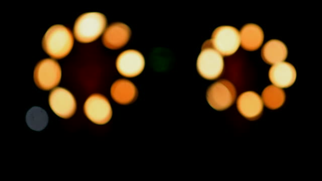 Bokhe light :Hawaiian Fire Knife Hula Dancer Big Island - Hawaii Islands, Hawaii Islands, Kauai, Pacific Islands, Cultures big island hawaii islands stock videos & royalty-free footage
