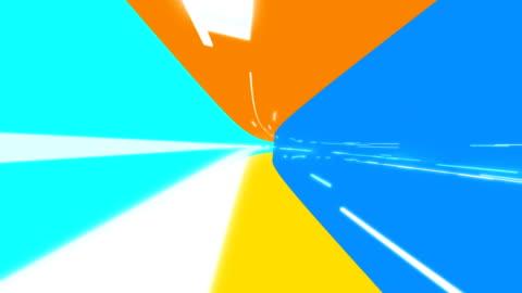 vídeos y material grabado en eventos de stock de colores atrevidos túnel digital - curva forma