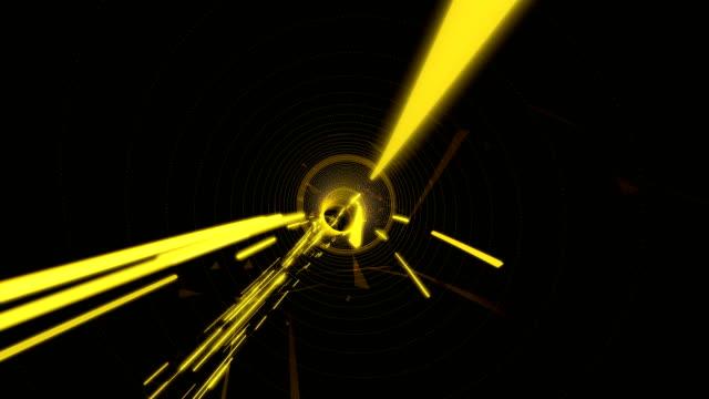 cesur renkler dijital tünel - sarı stok videoları ve detay görüntü çekimi