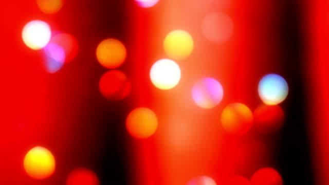 Bold Red Christmas Light Bokeh Background