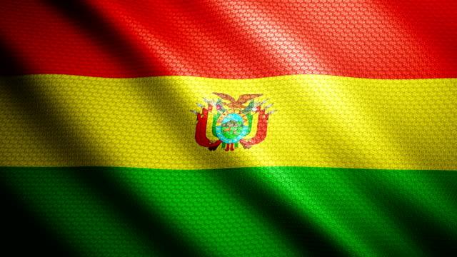 Bolivia Flag 4K video