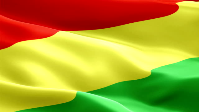 bolivia flag motion loop video waving in wind. realistic bolivian flag background. bolivia flag looping closeup 1080p full hd 1920x1080 footage. bolivia asia country flags footage video for film,news - kiss filmów i materiałów b-roll