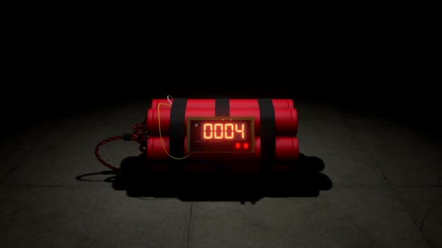 Bomb counts down zoom in. 3d animation Bomb counts down zoom in. 3d animation bomb stock videos & royalty-free footage