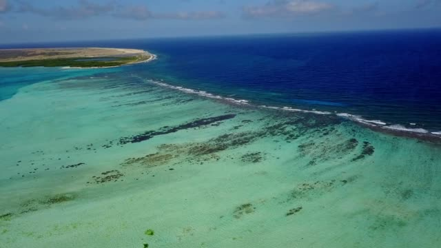 Bonaire island Caribbean sea windsurf lagoon Sorobon aerial drone top view 4K UHD video Aerial view DJI pro drone top view 4K UHD video leeward dutch antilles stock videos & royalty-free footage