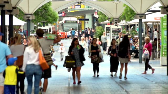 Bondi Junction shopping street video