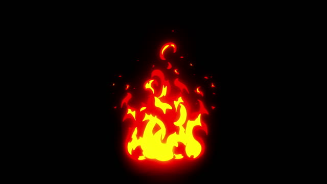 bonfire cartoon feuer animation. mittlere fackel, link, flambeau - brennen stock-videos und b-roll-filmmaterial