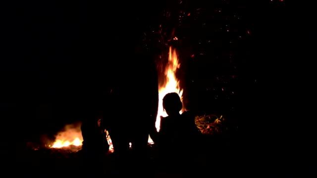 Bonfire Embers At Night video
