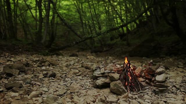 vídeos de stock e filmes b-roll de fogueira - inflamável