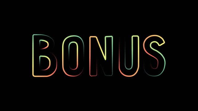 bonus casino banner, first deposit bonus motion graphics animation reveler motion poster, banner text. - bonus video stock e b–roll