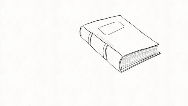 vídeos de stock, filmes e b-roll de animação artesanal do livro - romance