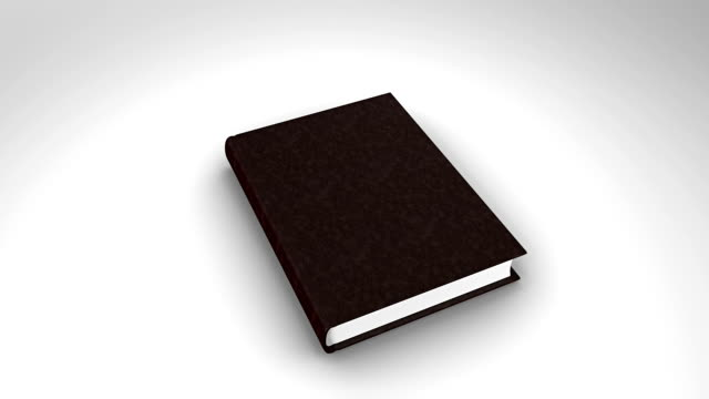 Book opening on white background Digital animation of Book opening on white background open book stock videos & royalty-free footage