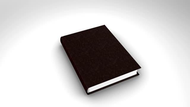 vídeos y material grabado en eventos de stock de abrir libro sobre fondo blanco - libro