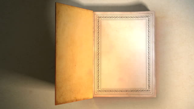Book opening with turning pages HD 3D animation of a book opening, turns several pages and works as a transition into your own image or footage. Includes masks.  open book stock videos & royalty-free footage
