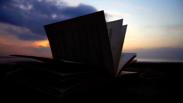 stockvideo's en b-roll-footage met boekpagina's flipping - literatuur