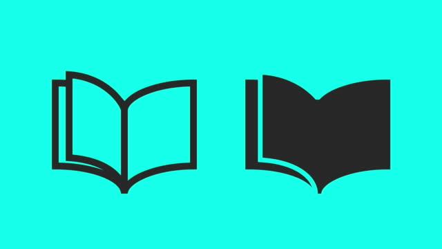 vídeos y material grabado en eventos de stock de libro - vector animado - libro