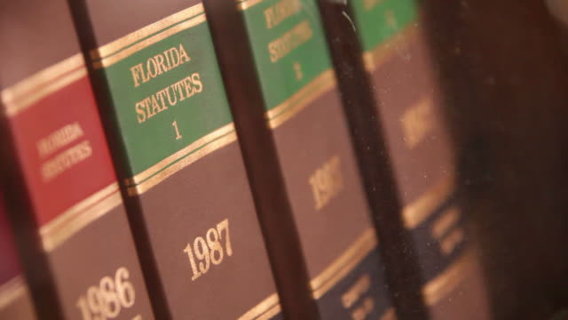 Books of Florida Law  law stock videos & royalty-free footage