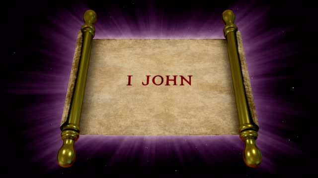 Books of New Testament - 1 John Parchment, New Testament, Christianity passion stock videos & royalty-free footage
