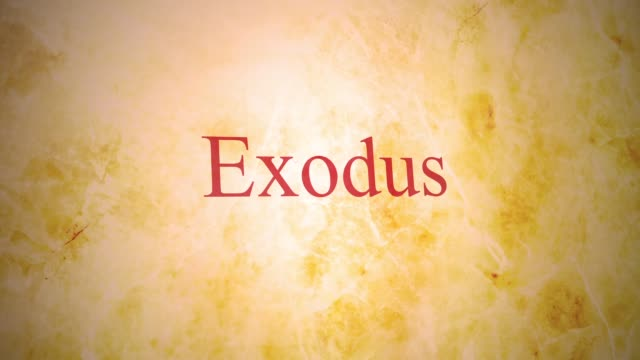 Books of the old testamant in the bible series - Exodus Books of the old testamant in the bible series - Exodus old testament stock videos & royalty-free footage