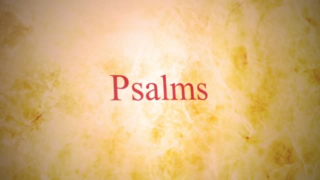 Books of the old testament in the bible series - Psalms Books of the old testament in the bible series - Psalms old testament stock videos & royalty-free footage