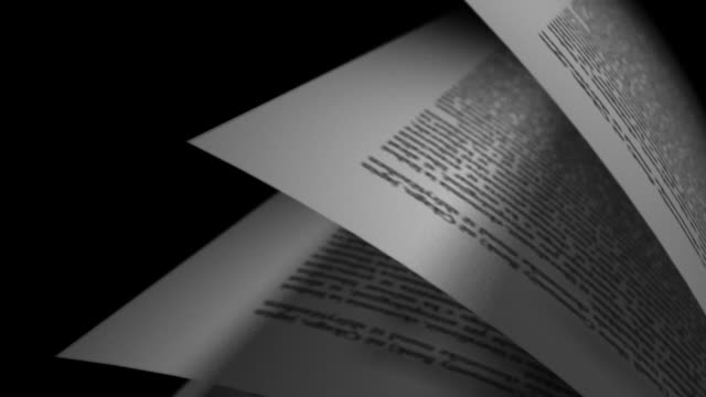 book's page turning close up video