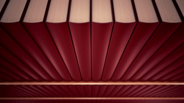 Bookshelf loopable animation. video
