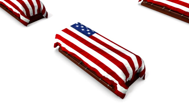 Boom down from single American Coffin revealing endless Coffins video