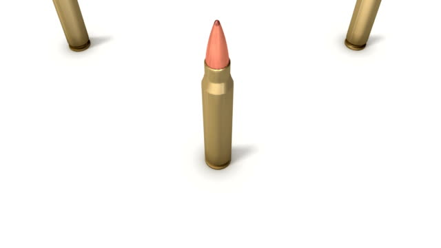 Boom down from single Rifle Bullet revealing endless Bullets video