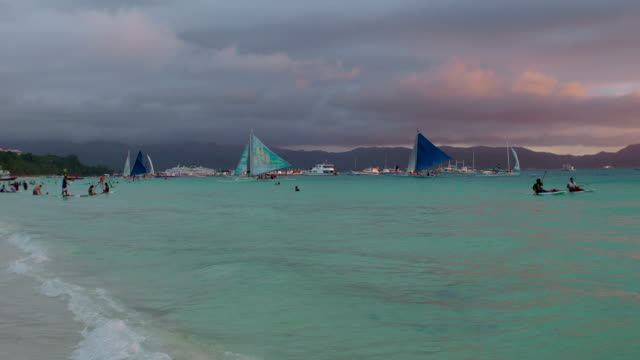 Boracay Beach View at Sunset video