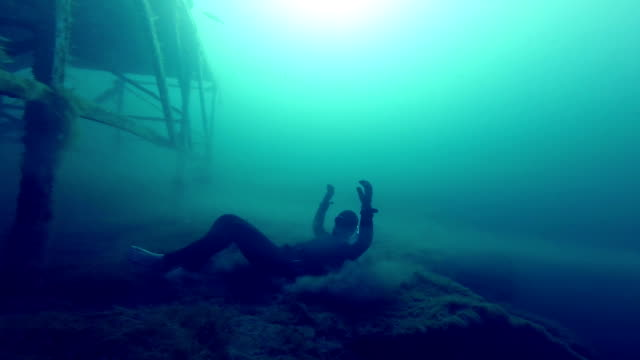Born of a New Freediver Underwater Super Hero Climbing and Jumping video