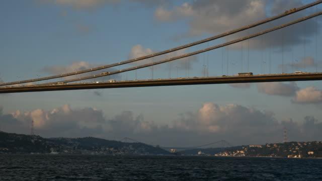 Boğaz Köprüsü ve trafik Timelapse video