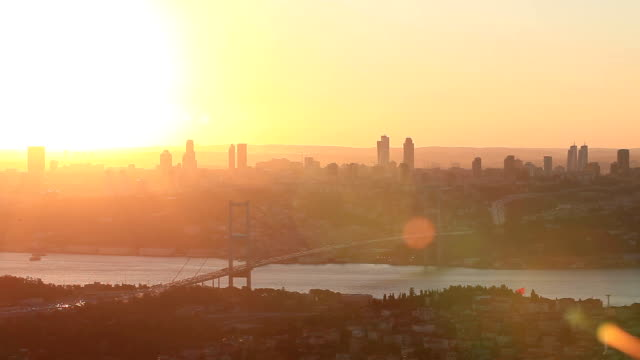 HD: Bosphorus Bridge **Time Lapse**, Istanbul, TURKEY video