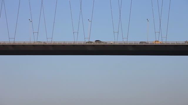 ponte sul bosforo. - cavo d'acciaio video stock e b–roll