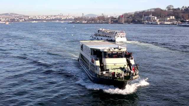 Bosphorus istanbul ship city video