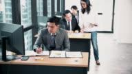istock Boss assign work to business team 1185504141