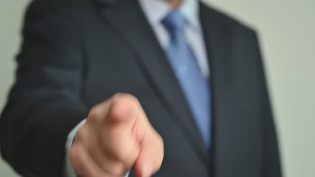 Boss giving order or firing employee. Angry executive or manager