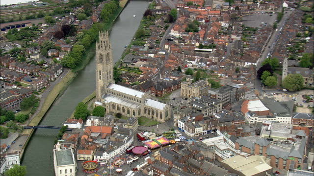 Boston  - Aerial View - England, Lincolnshire, Boston District, United Kingdom video